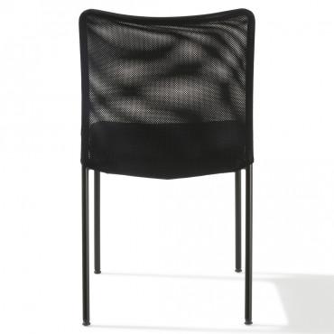 Chaise visiteur FARO 4 pieds, Revêtement Tissu - Negostock