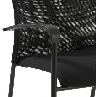 Chaise visiteur faro chaise de bureau chaise r union - Chaise visiteur avec accoudoirs ...