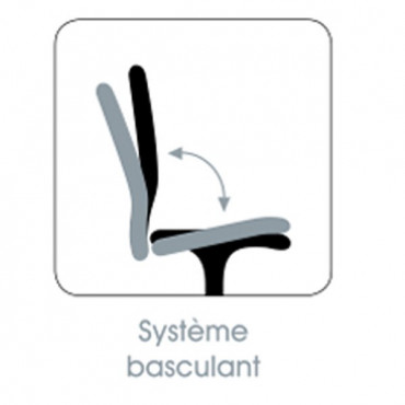 Fauteuil de bureau Axo, Siège système basculant - Negostock