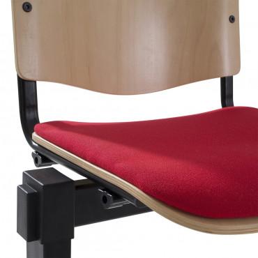 3 sièges d'accueil sur poutre Milo - Negostock