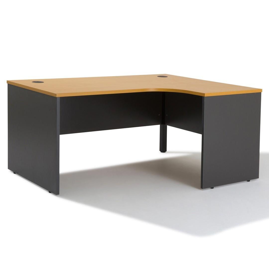 Bureau D Angle Arrondi bureau d'angle compact - gamme panneau - gosto