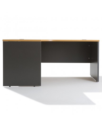 bureau d 39 angle avec rangement bois caisson negostock. Black Bedroom Furniture Sets. Home Design Ideas