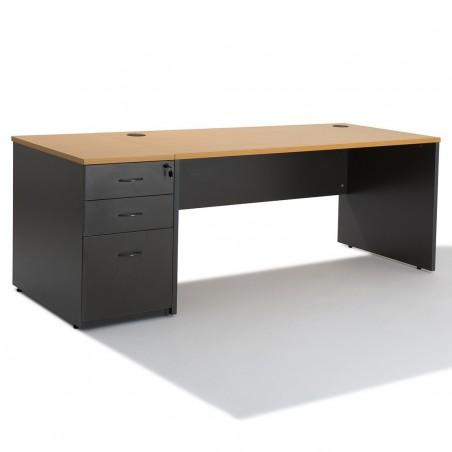 bureau droit professionnel panneau avec caisson negostock. Black Bedroom Furniture Sets. Home Design Ideas