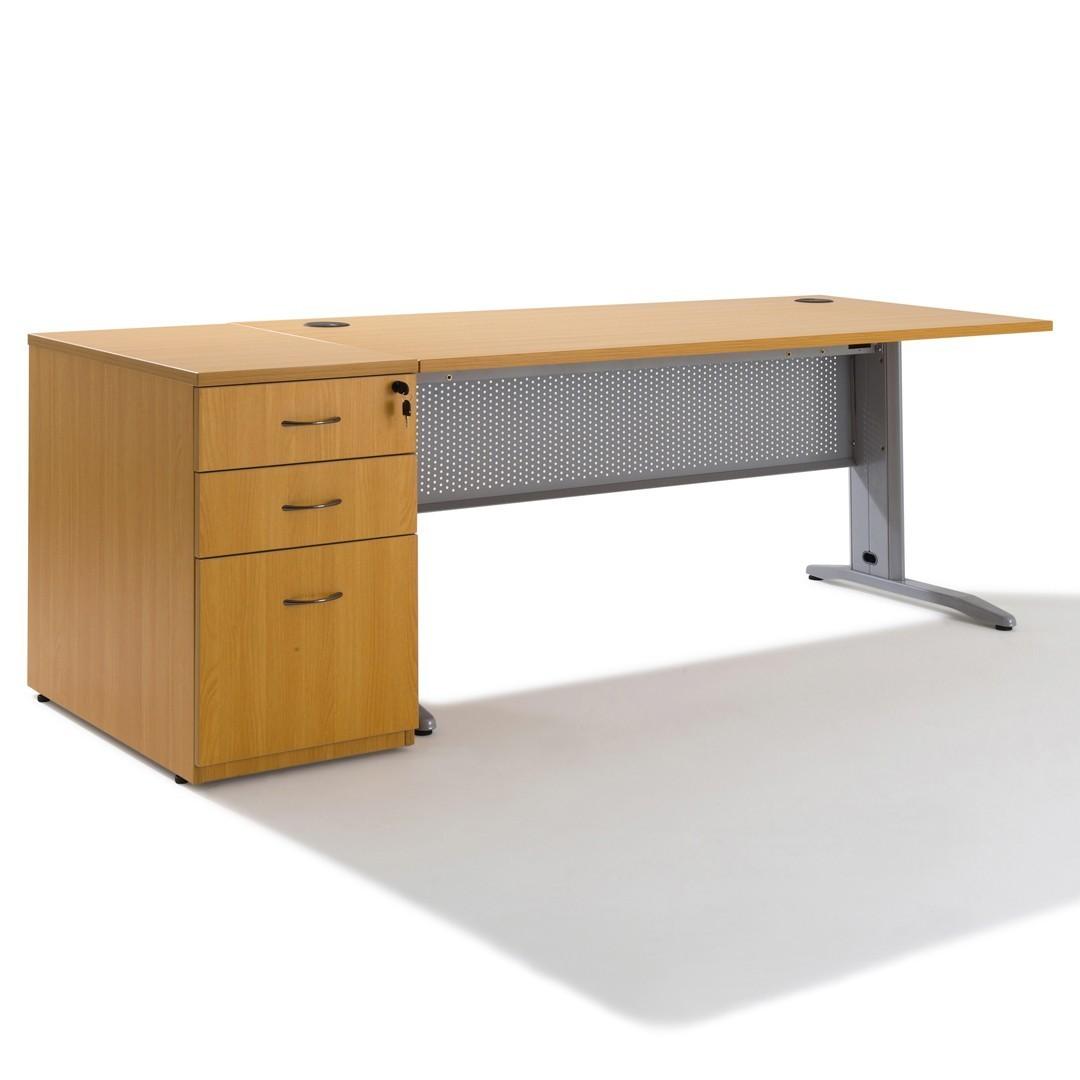 Table Haute Avec Rangement bureau avec rangement en bois electra - gosto