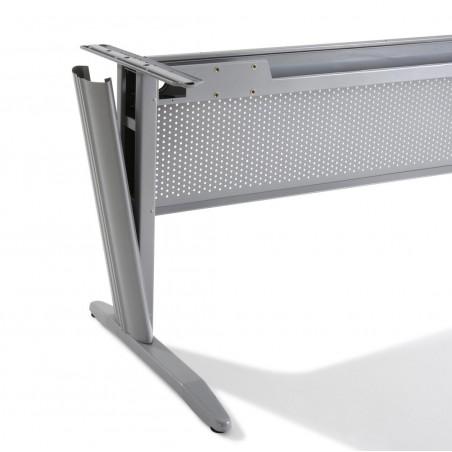 BUREAU DROIT ELECTRA + CAISSON BLANC HB metal 80 cm