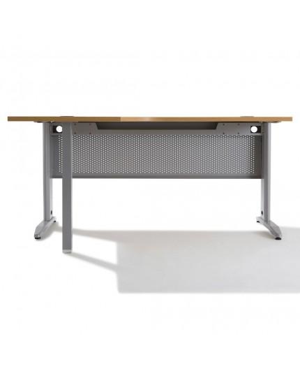 bureau d 39 angle compact pietement alu negostock. Black Bedroom Furniture Sets. Home Design Ideas