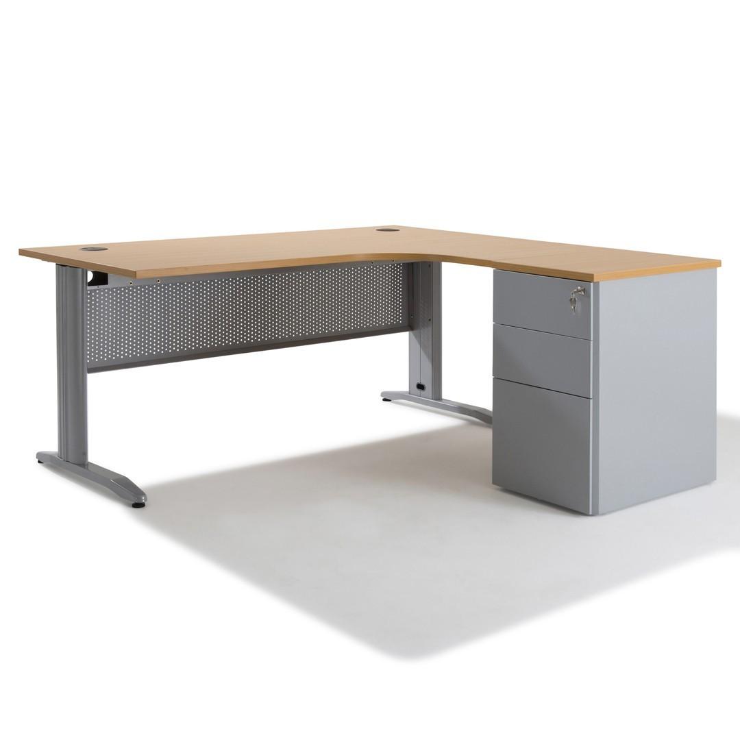 Table Haute Avec Rangement bureau d'angle professionnel avec rangement electra - gosto