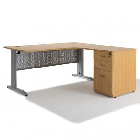 Bureau compact Electra + caisson HB Bois 60 cm