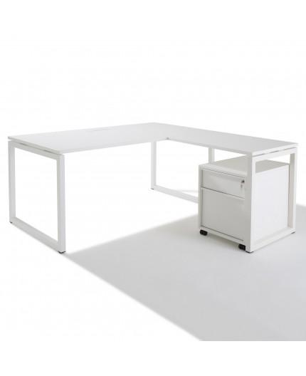 bureau d 39 angle avec retour accroch gamme cube. Black Bedroom Furniture Sets. Home Design Ideas