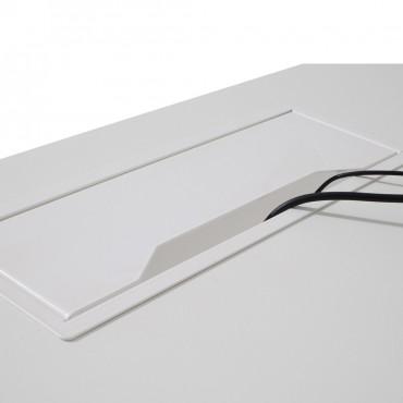 Bureau d'angle avec retour accroché - Gamme Cube