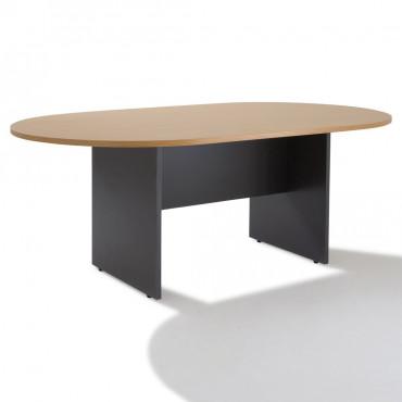 Table de réunion ovale piétement bois 6 à 10 personnes