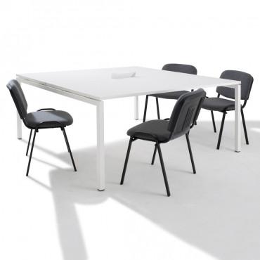 Table de réunion - 2 plateaux - Negostock