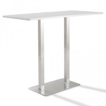 Table haute de réunion rectangulaire hauteur 110 cm Moka