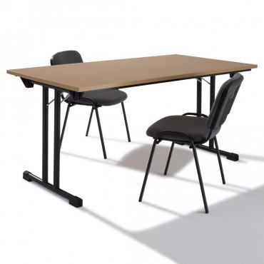Table modulable pliante L140xP70, Table rectangulaire.