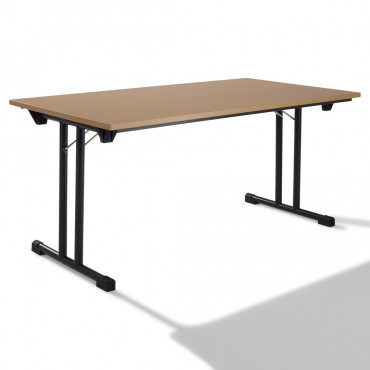 Table modulable pliante L140xP70, Table rectangulaire.