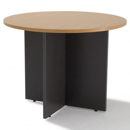 Table de réunion ronde piétement bois 3 à 4 personnes