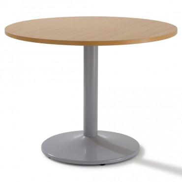 Table de réunion avec piètement tulipe noir - Negostock