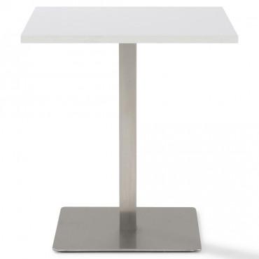 Table réunion Moka carrée piétement inox brossé
