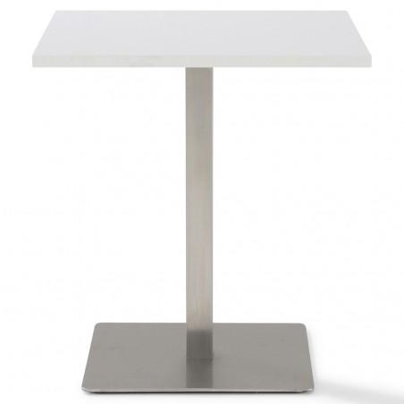 Table réunion carrée 2 hauteurs 75 cm et 110 cm Moka