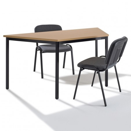Table modulaire trapézoïdale