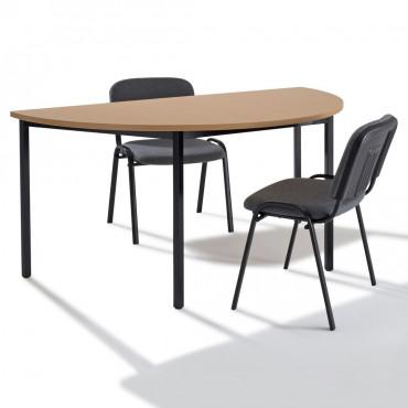Table de réunion modulaire demi ronde, demi lune - Negostock.