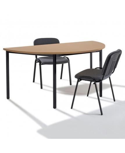Table De Reunion Modulaire Demi Ronde Demi Lune Negostock