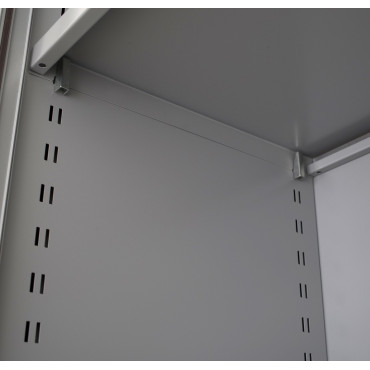 Armoire à rideaux monobloc H195x L120x P46cm - Mobilier de Bureau