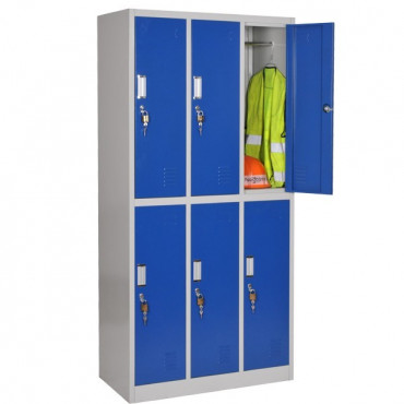 Vestiaire bi-place - semi monobloc - 6 cases