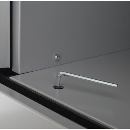 Armoire à rideaux H180 en métal Livrée montée