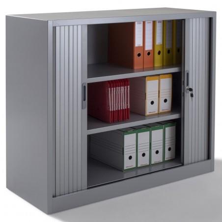 armoire rideau armoire de bureau m tallique negostock. Black Bedroom Furniture Sets. Home Design Ideas