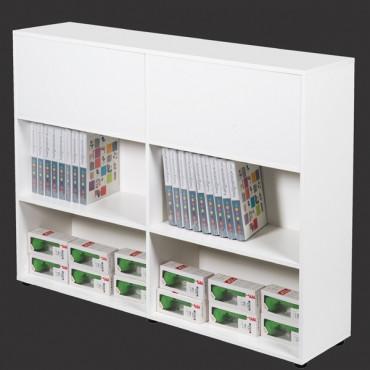 Bureau professionnel Open Space, 2 bureaux bench + armoire