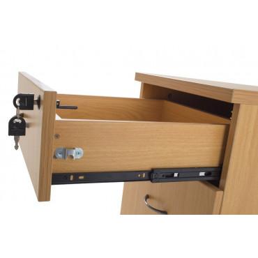 Caisson à roulettes, en bois, 3 Tiroirs, Wist - caissons bureau