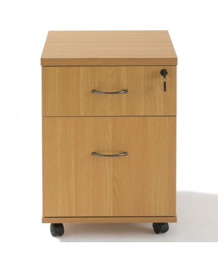Caisson pour bureau à roulettes en bois 1 tiroir.