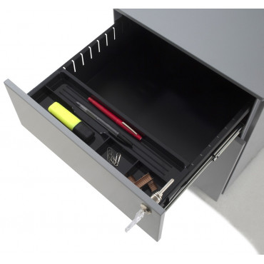 Caisson métallique de bureau, hIsto 1 tiroir et 1 dossier suspendu. Negostock