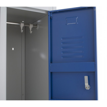 Vestiaire métallique industriel bi-place 2 cases Negostock