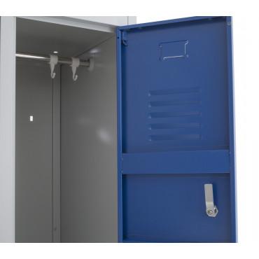 Vestiaire bi-place semi monobloc 4 cases