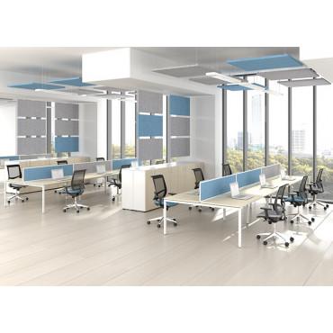 Panneaux acoustiques pour plafond horizontaux