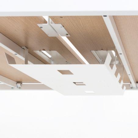 Bench de 2 Bureaux pour Open Space plateaux coulissants - Gamme Sierra