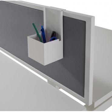 Porte crayon - métallique - Blanc