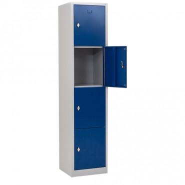 Vestiaire multicases monobloc 4 cases