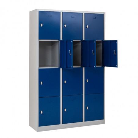 Vestiaire multicases monobloc 12 cases