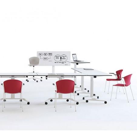 Table réglable en hauteur avec tableau écritoir sur roulettes TALENT 500