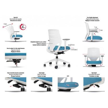 Fauteuil de Bureau Assis debout Design ergonomique EFIT