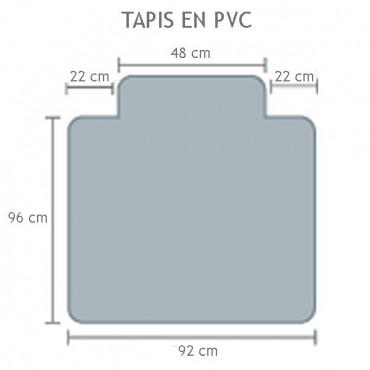 Tapis PVC antistatique pour sol dur, repose pied - Negostock