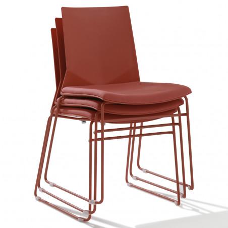 Chaise de bureau Hella avec galette pieds luge