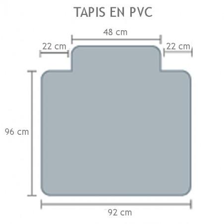 Tapis en PVC pour moquette antistatique