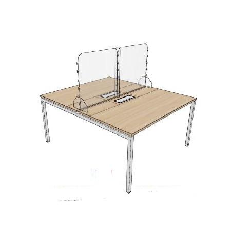 Hygiaphone Ecran de protection covid pour bureau de 110 à 150 cm