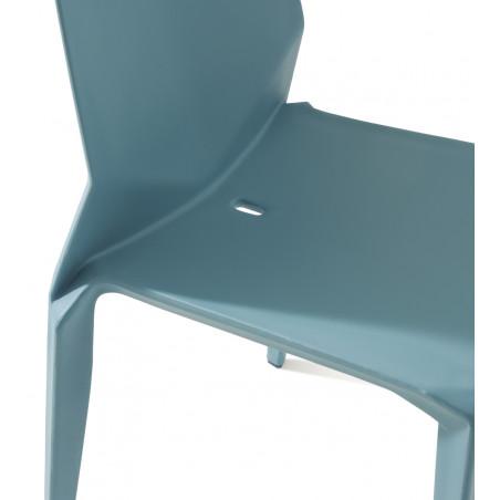 Chaise en polypropylène 4 pieds Hella