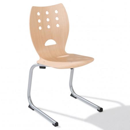 Chaise Luge en bois School