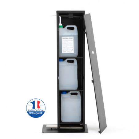 Borne distributeur de gel hydroalcoolique à pedale
